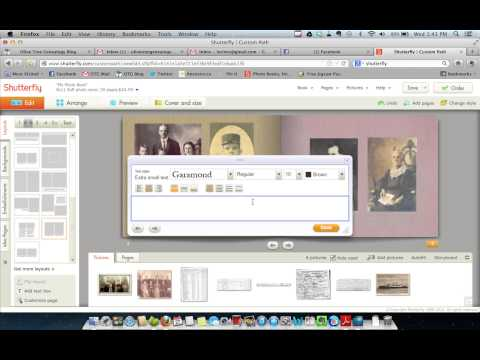 Using Shutterfly to Create a Memory Book: Tutorial 3