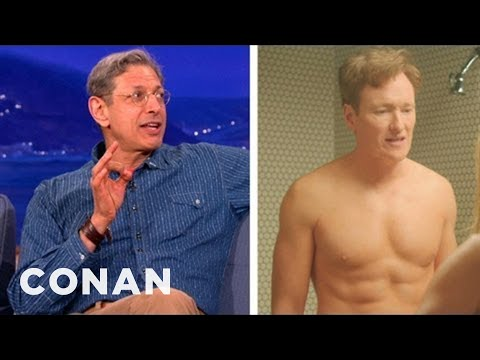 Jeff Goldblum Admires Conan's 6-Pack - CONAN on TBS