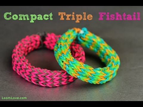 Make a Compact Triple Fishtail on the Monster Tail Rainbow Loom
