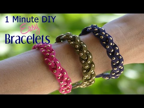 1 Minute DIY Crafts | Super Easy DIY Bracelets