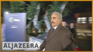 🇮🇹🇱🇾Renegade General Khalifa Haftar joins Libya conference in Palermo | Al Jazeera English - ALJAZEERAENGLISH
