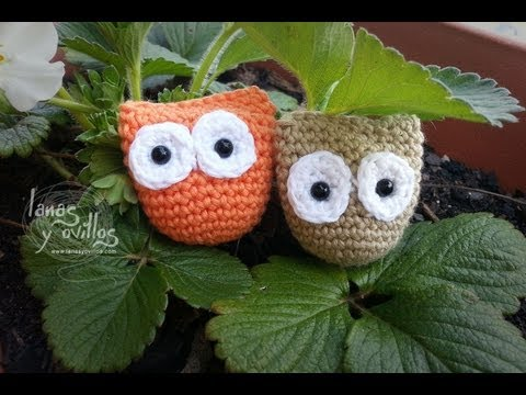 Tutorial Mini Buho Amigurumi Owl (English Subtitles)