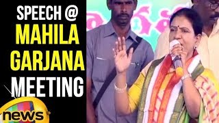 D K Aruna Speech At Congress Mahila Garjana Meeting in Shapur Nagar | DK Aruna Slams KCR |MangoNews - MANGONEWS