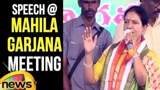 D K Aruna Speech At Congress Mahila Garjana Meeting in Shapur Nagar   DK Aruna Slams KCR  MangoNews - MANGONEWS