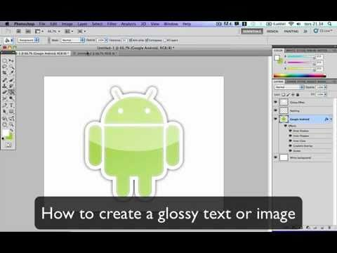 Create glossy text or image using Adobe Photoshop CS5