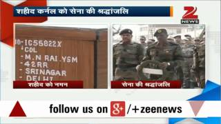 Indian Army pays poignant tribute to Colonel MN Rai - ZEENEWS