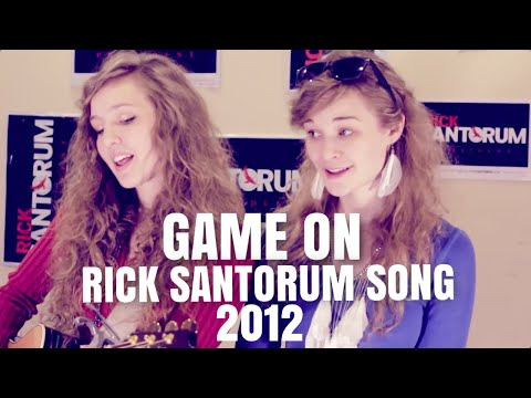 Game On - Song for Rick Santorum - Super Tuesday Surprise Original By First Love (Band)