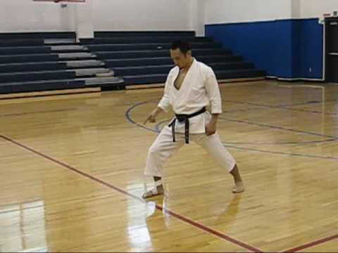 Yamaguchi-sensei demonstrating turning in different techniques