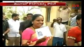 Political Leader Caste Their Vote | MP Kavitha and KTR | Telangana Elections | CVR News - CVRNEWSOFFICIAL