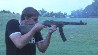 สาธิตปืนกลเบา PPSH-41