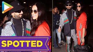 SPOTTED: Ranveer Singh & Deepika Padukone @Mumbai Airport - HUNGAMA