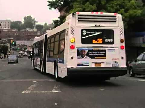 MTA New York City Bus Novabus LFSA 5966 on the Bx36
