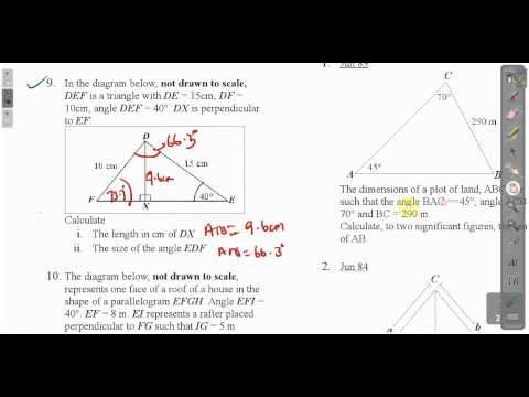 CXC CSEC Maths- Trigonometry Lesson 2