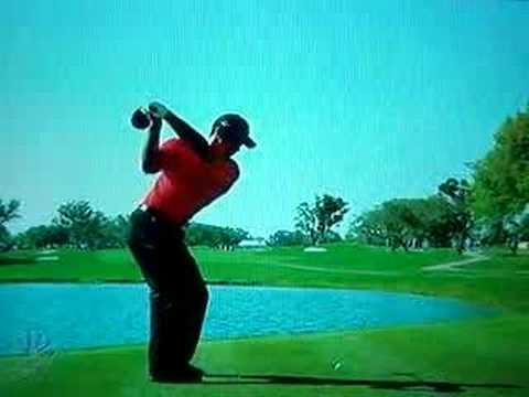 tiger woods swing vision. tiger woods driver bay hill