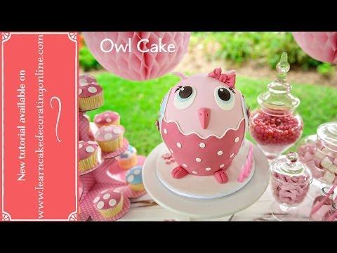 """Торт на день рожденье """"Сова"""" своими руками"""