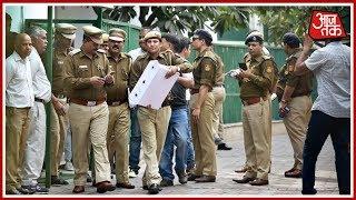 सीएम के घर पर दिल्ली पुलिस का डेरा - AAJTAKTV