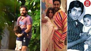Taimur's Playtime With Daddy Saif | Big B, Abhishek's Birthday Wishes For Shweta Bachchan Nanda - ZOOMDEKHO