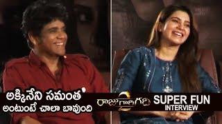 Akkineni Nagarjuna and Akkineni Samantha Super Fun Interview About Raju Gari Gadhi 2 | TFPC - TFPC