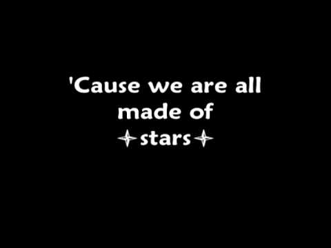 Moby-We are all made of stars lyrics