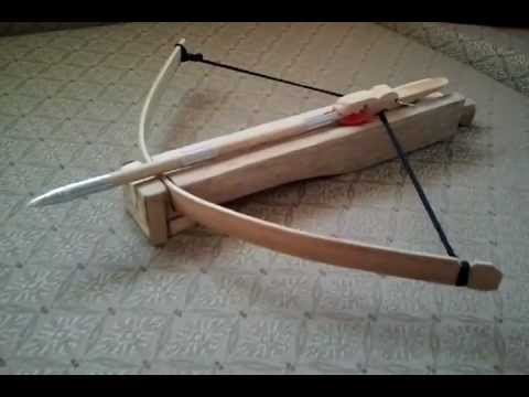 youtube how to make a home made cross bow