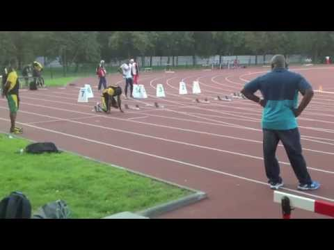 Usain Bolt acceleration and starts - competition warm up