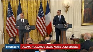 Obama: The U.S., France Stand United in Total Solidarity - BLOOMBERG