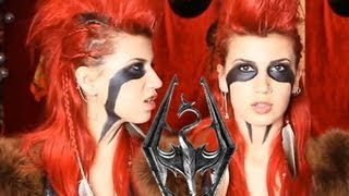 Skyrim inspired makeup w/ MadMax inspired hair