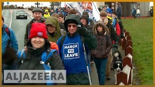 🇬🇧 Brexit 'Leave Means Leave' march sets off from Sunderland | Al Jazeera English - ALJAZEERAENGLISH