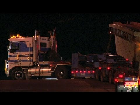 Australian Trucks : Hi Haul Kenworth K104s with Bridge Beams.  Part 3 Sat 18/05/13