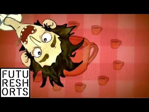沒有咖啡會抓狂的,2007年 法國動畫學校ecma與歌手合作的短片- 咖啡 http://www.youtube.com/watch?v=UGtKGX8B9hU