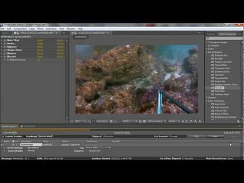 GoPro HD Hero 2 Underwater Color Correction Using Adobe Aftereffects