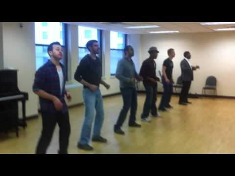 The Broadway Boys rehearse their Jackson 5 Medley