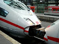 German ICE 3 Highspeed Train coppling together