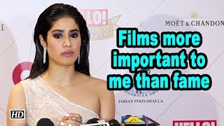 Films more important to me than fame: Janhvi Kapoor - IANSLIVE