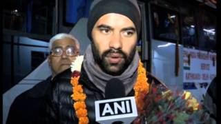 27,Nov 2014 - India-Nepal bus service completes maiden journey, arrives in New Delhi - ANIINDIAFILE