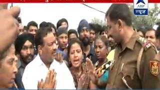 Localites protest against police in Rithala I 2 kids went missing after drowning - ABPNEWSTV