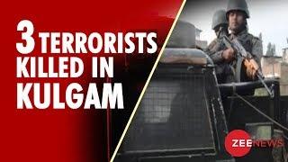3 Terrorists Shot Dead In Kashmir's Kulgam - ZEENEWS