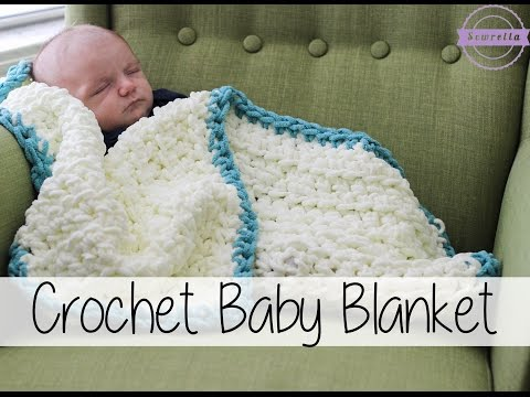 Easy Beginner Crochet Baby Blanket   Sewrella