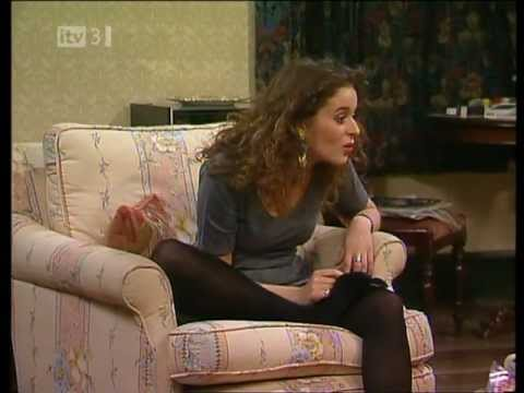 Julia Sawalha black opaque tights