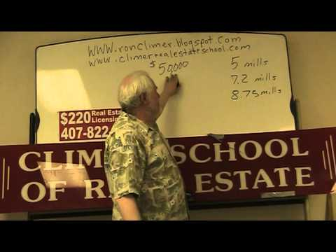 Ron Climer Explaining Property Taxes For The Florida Real Estate Exam