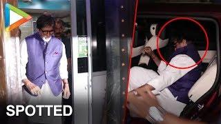Amitabh Bachchan Spotted At Late Aadesh Shrivastav Dubbing Studio - HUNGAMA