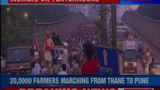 Farmers and Tribals start 2-day rally from Thane to Mumbai today - NEWSXLIVE