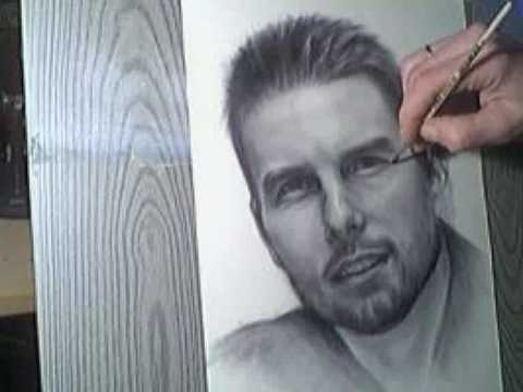 Tom Cruise - portrait drawing / painting by Sergius Pabst