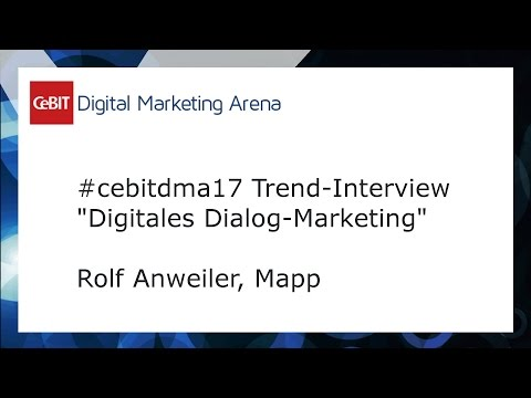 #cebitdmx17 Interview Rolf Anweiler, Mapp