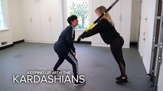 KUWTK | Kris Jenner Interferes With Pregnant Khloé's Workout | E! - EENTERTAINMENT