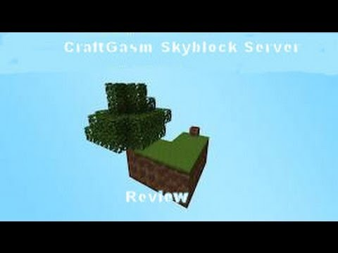 Minecraft Skyblock Server Review - Craftgasm (1.5.2)