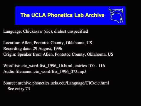 Chickasaw audio: cic_word-list_1996_073