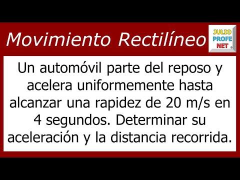 Movimiento Rectilíneo Uniformemente Acelerado (Problema 1)