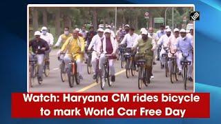 video : World Car Free Day के अवसर पर CM Khattar और उनका मंत्रिमंडल Bicycle से पहुंचा सचिवालय