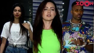 Khushi Kapoor, Poonam Dhillon, Hardik Pandya & others spotted at a restaurant - ZOOMDEKHO